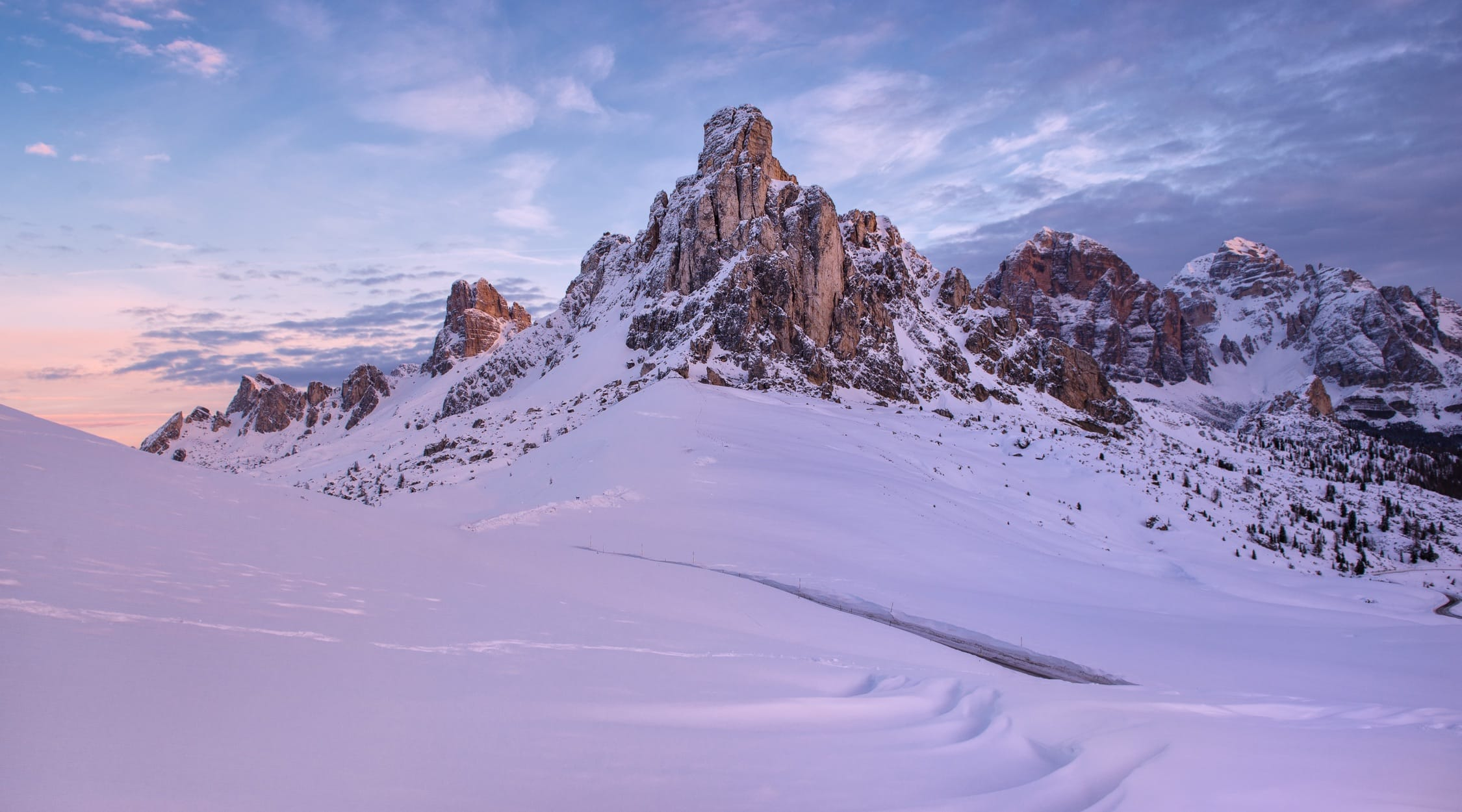 The Passo Gaiu in winter