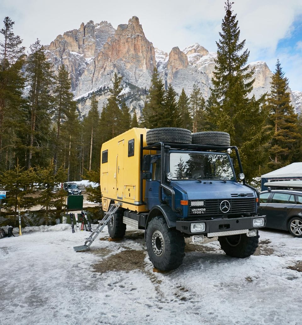 Camping with pitches in the Dolomites