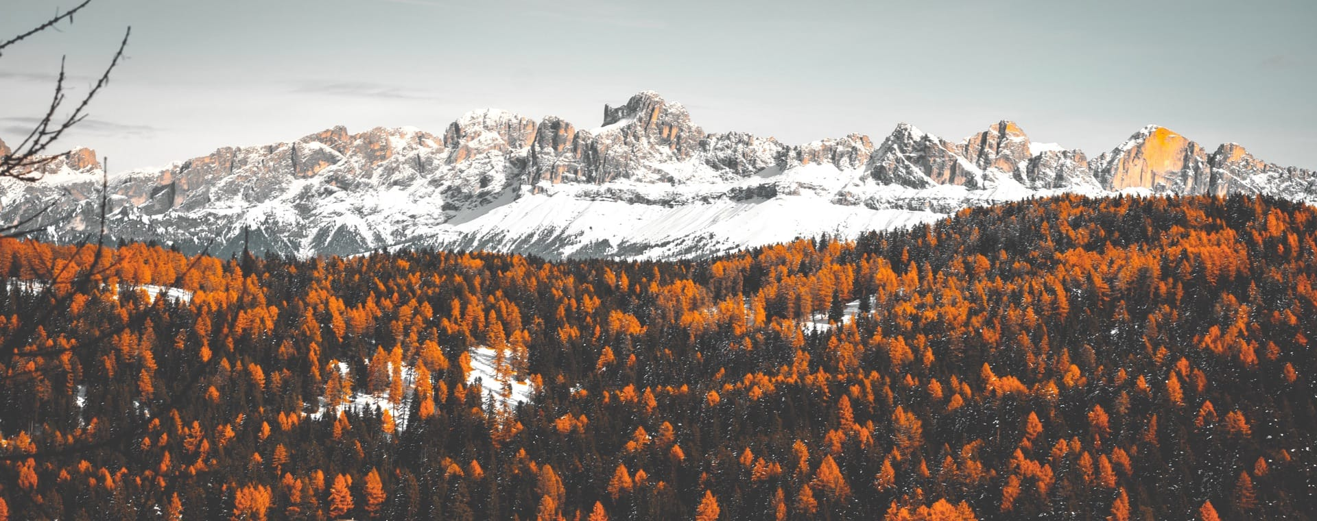 Autumn colours in the Dolomites