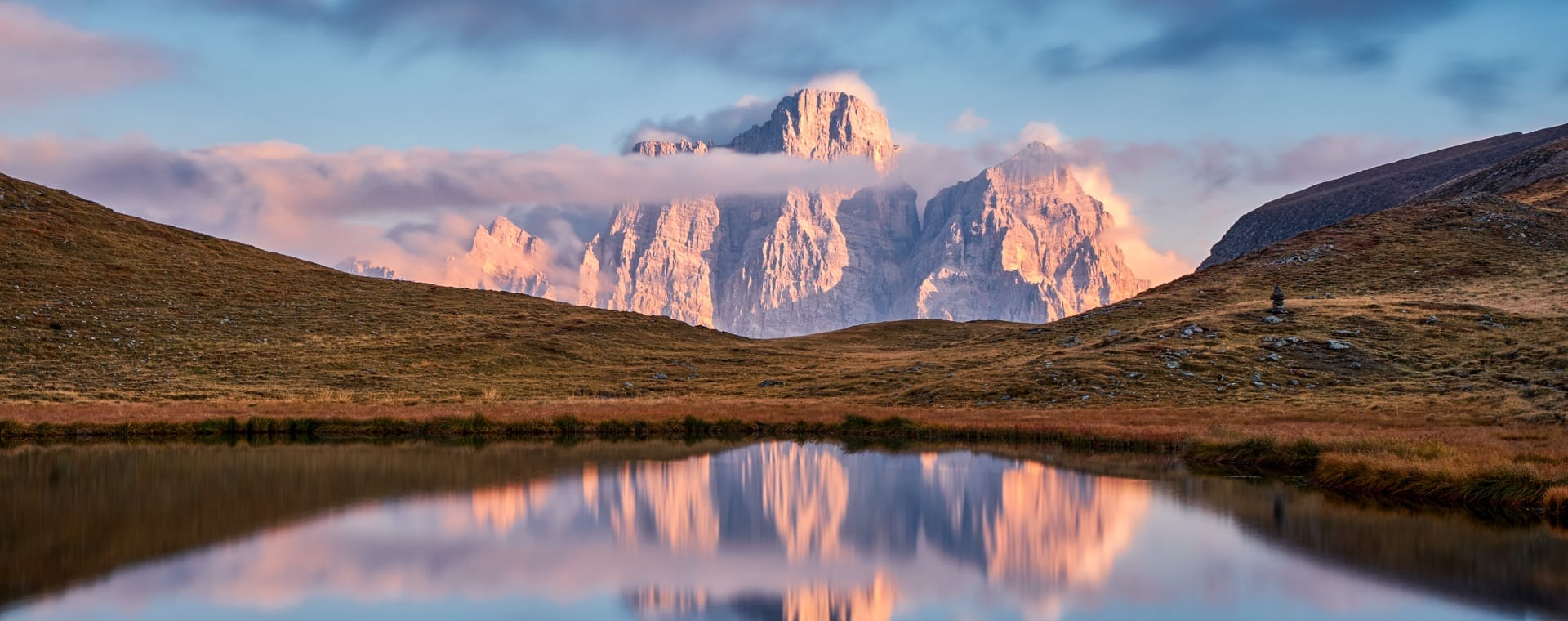 The Pelmo reflected in the lake Baste - Dolomites